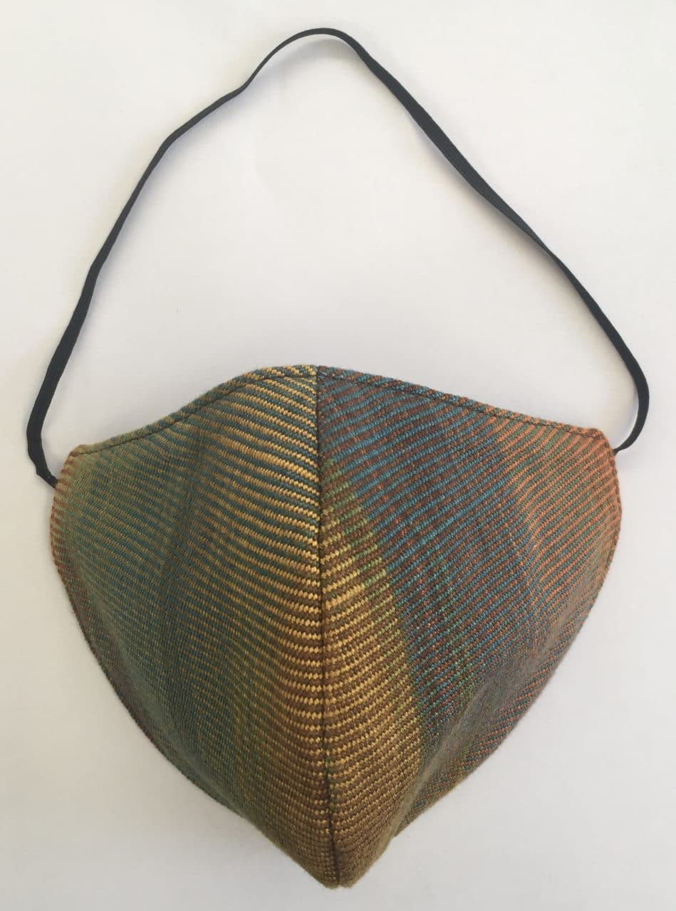 Autumn Rainbow - Handwoven Lightweight Bamboo Mask