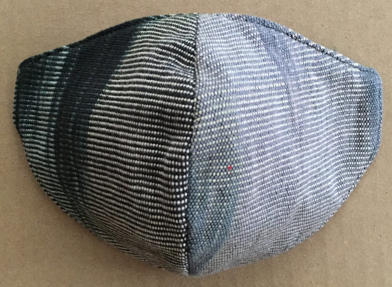 Black, Gray, Beige - Handwoven Lightweight Bamboo Mask