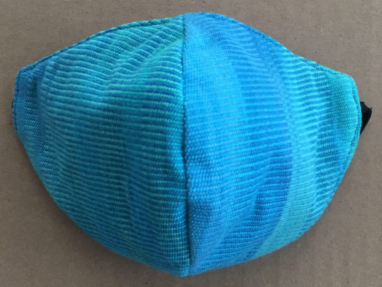 Turquoise, Celestial Blues - Handwoven Lightweight Bamboo Mask