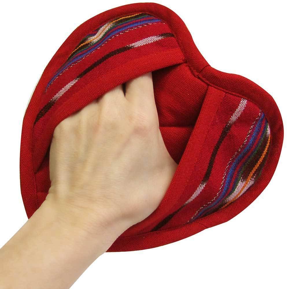 Festive Heart Pot Holder