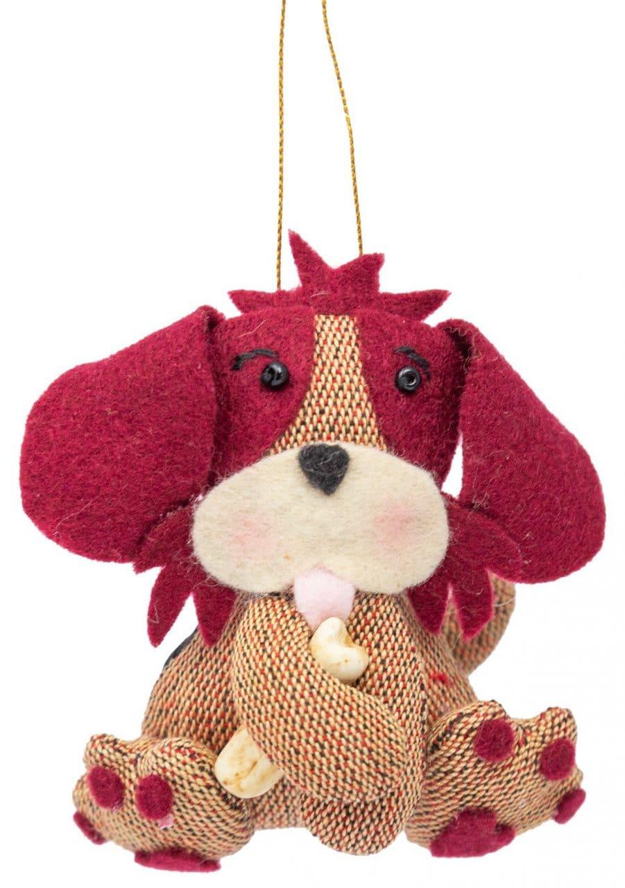 Dog with Bone Ornament