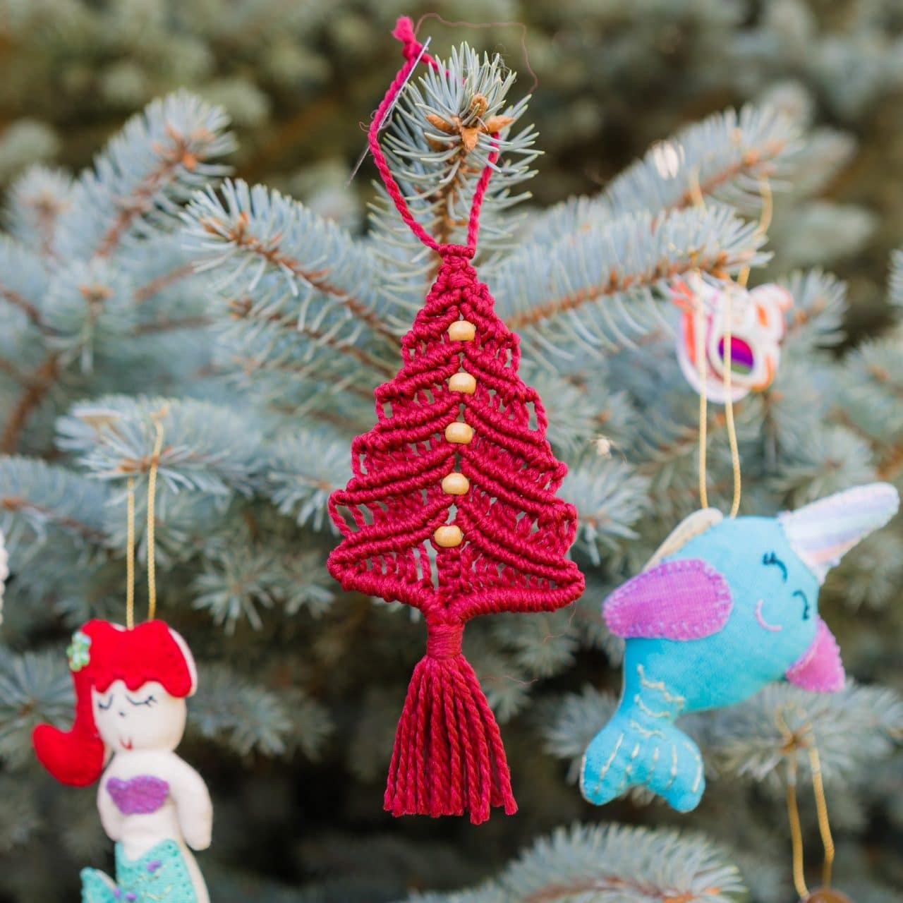Macrame Tree Ornament