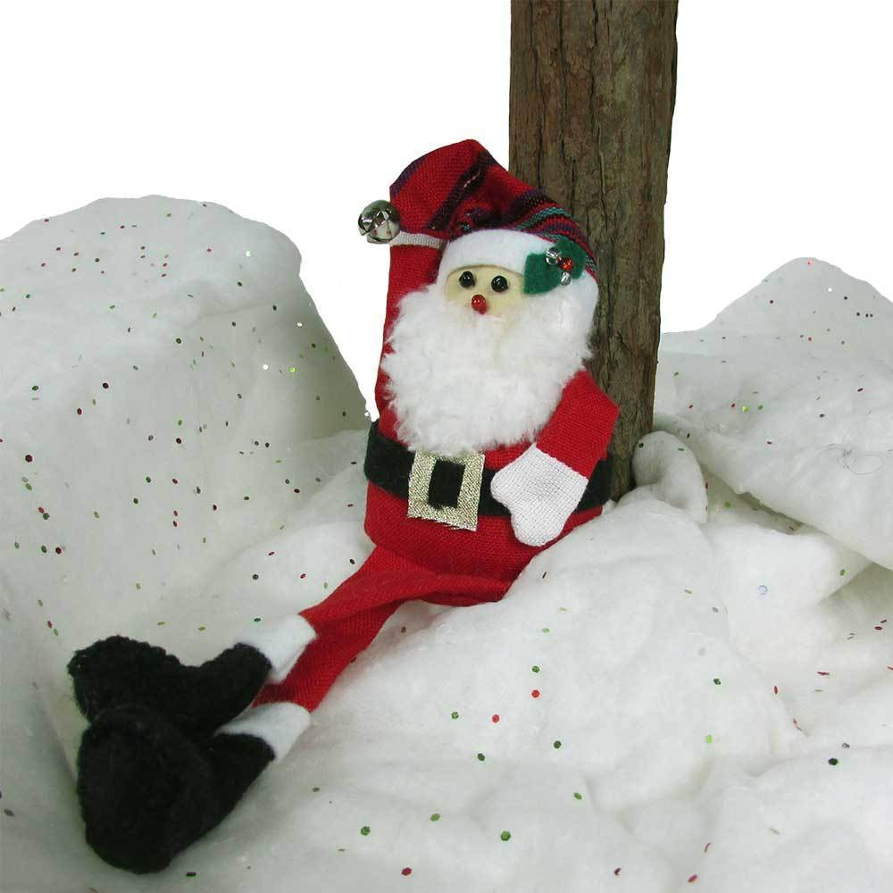 Long Legged Santa Ornament