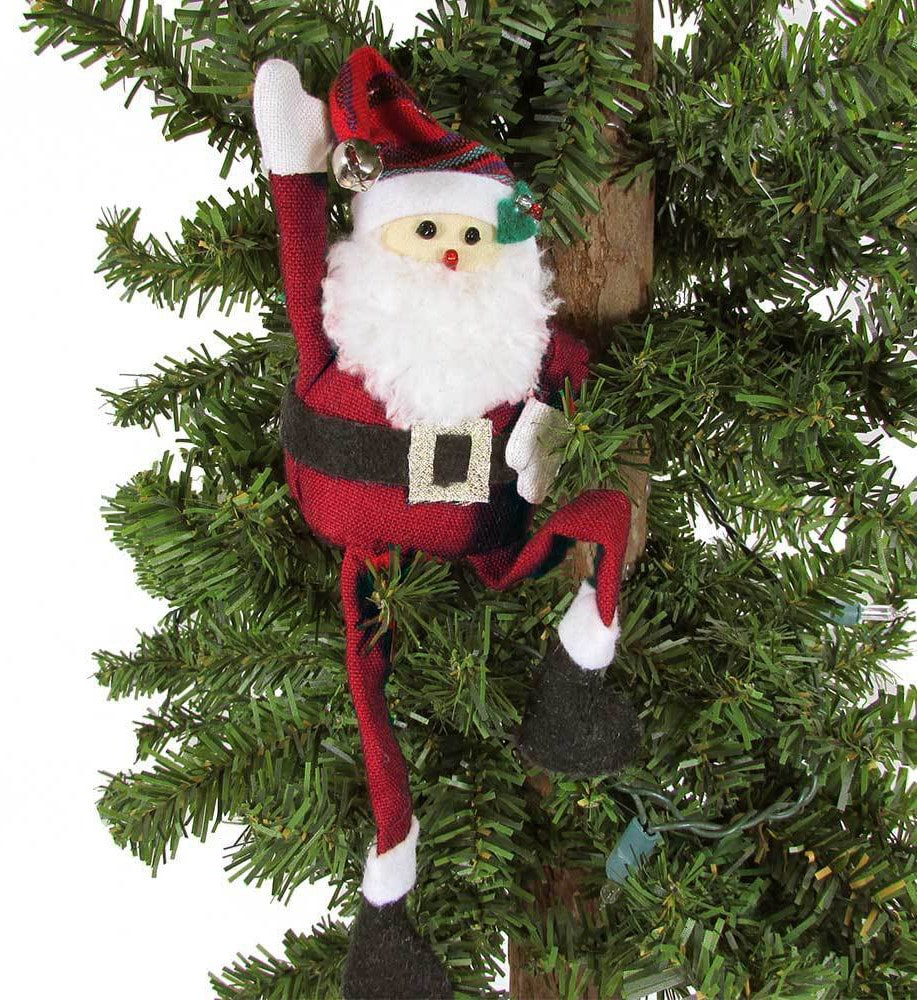 Long Legged Santa Ornament