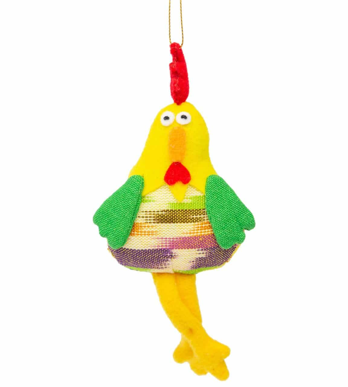 Yellow Rooster Ornament