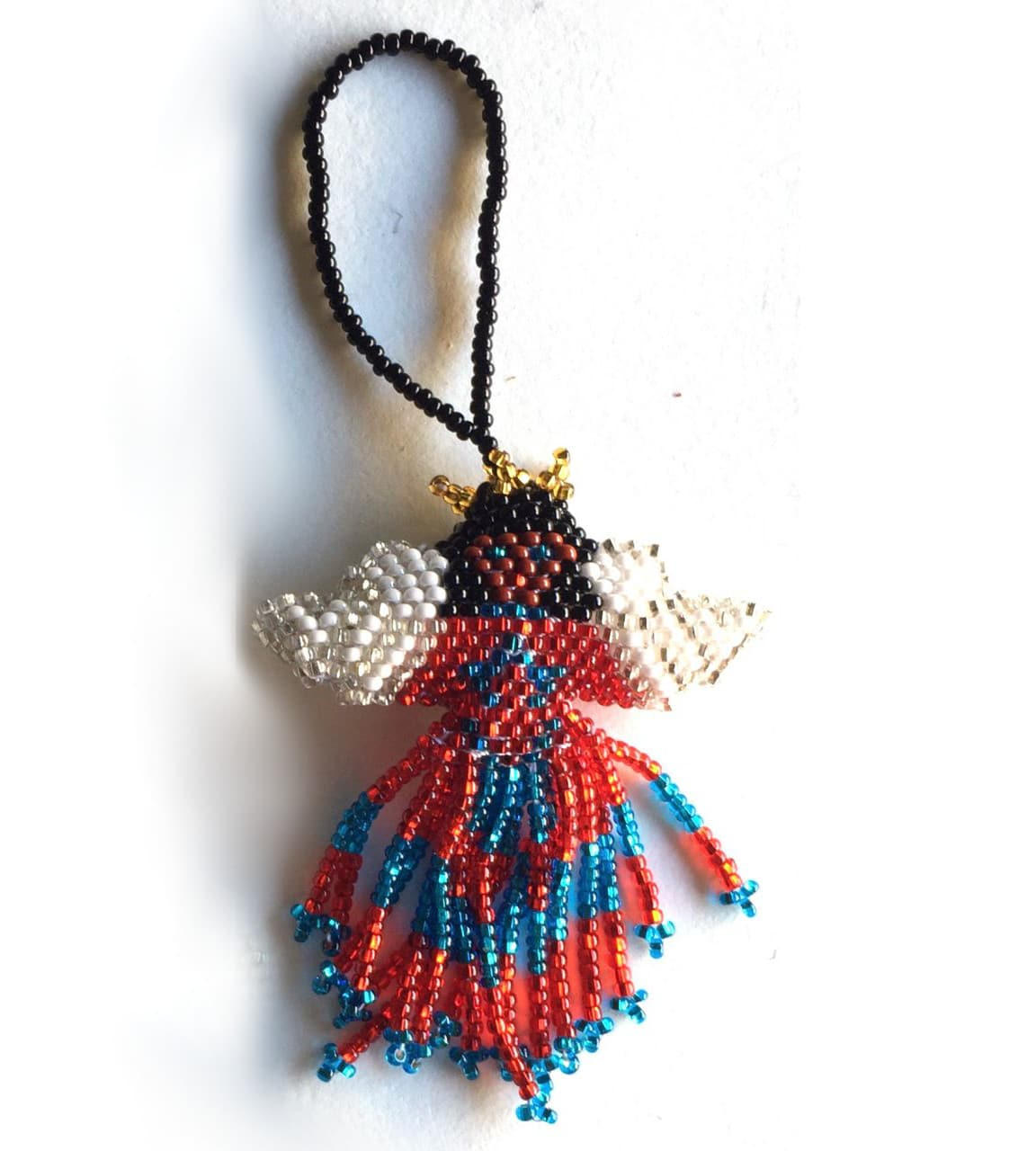 Angel of Color Beaded Ornament - with Variety of Skirt Colors