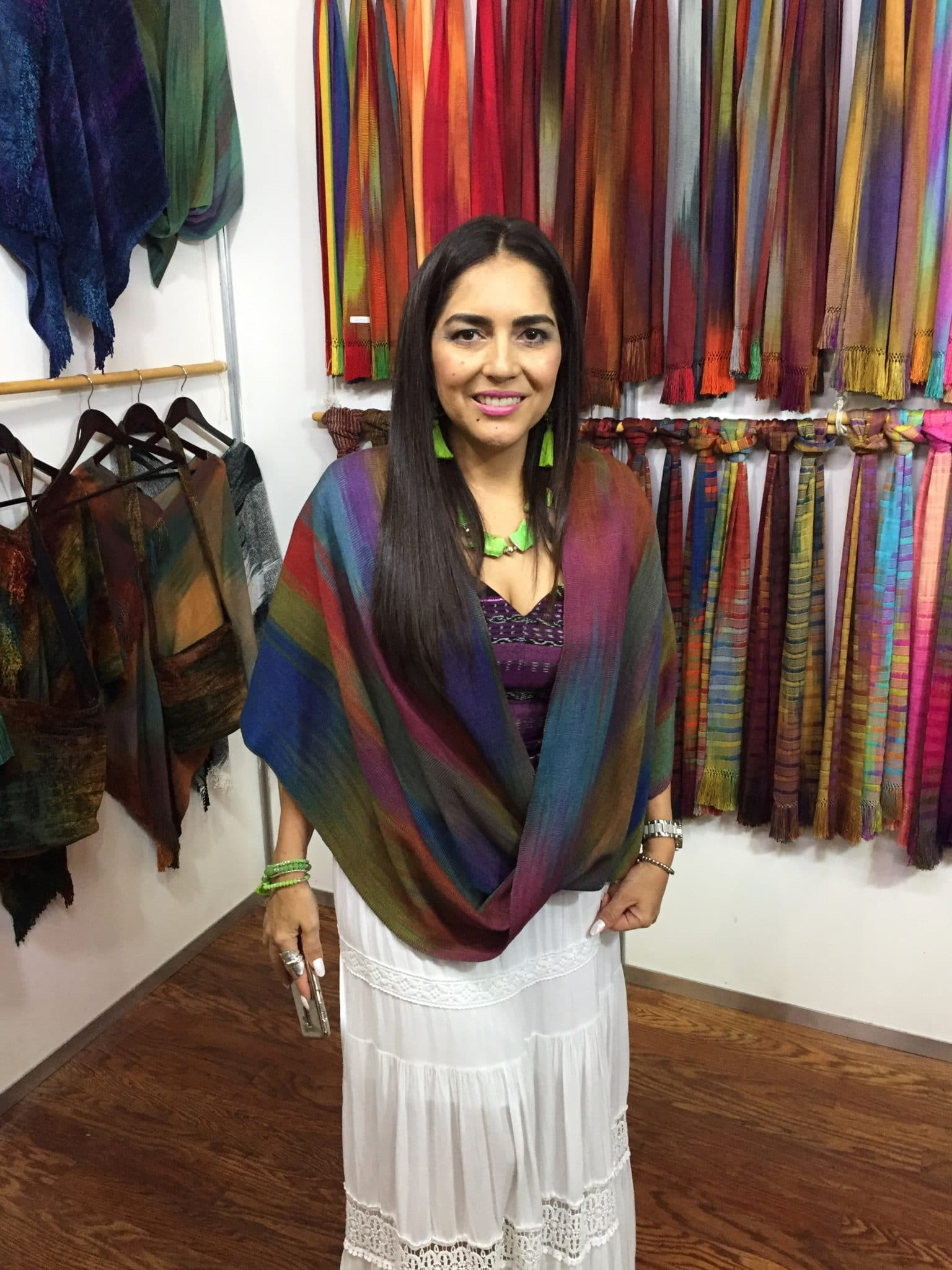 Lightweight Bamboo Infinity Front Poncho