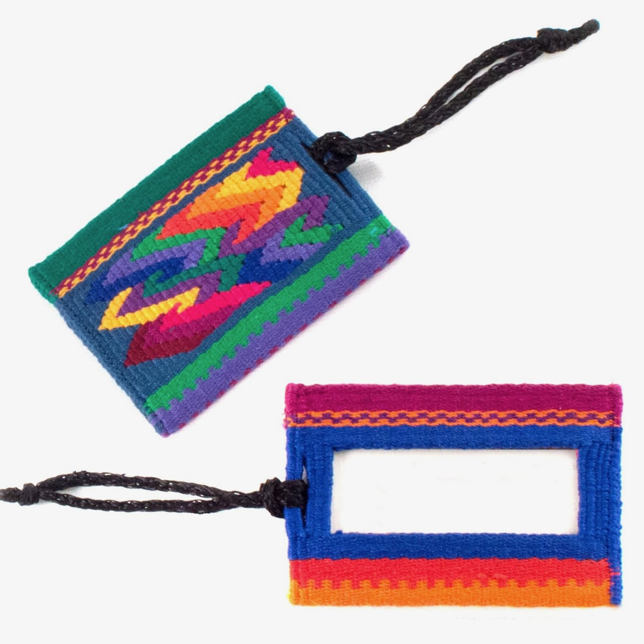 Rainbow Zigzag Luggage Tag