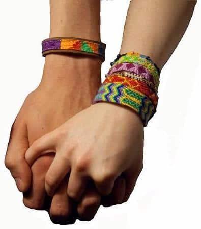 Wide Cotton Colorful Knotted Friendship Bracelet