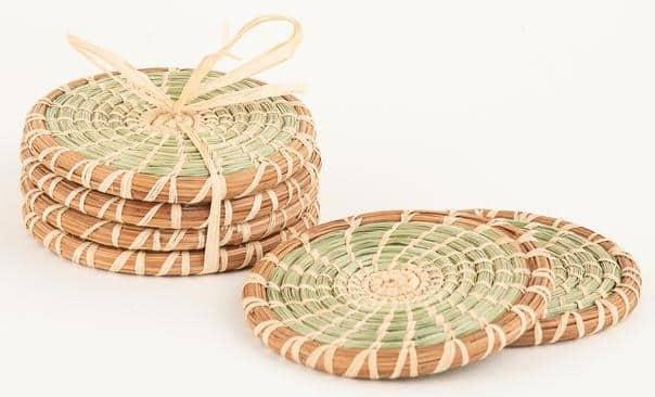 Wild Grass and Pine Needle Coaster Set