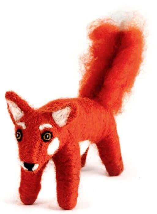 Felted Wool Fox