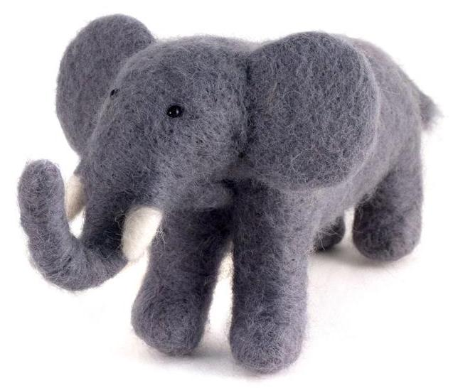 Felted Wool Elephant