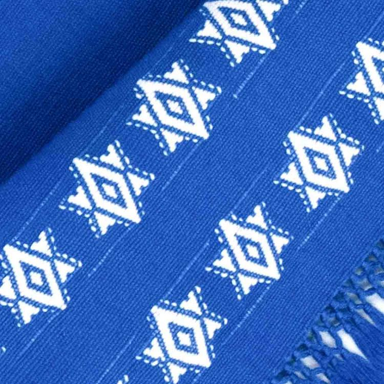 Blue Challah Cover with White Stars