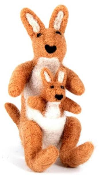 Felted Wool Kangaroo
