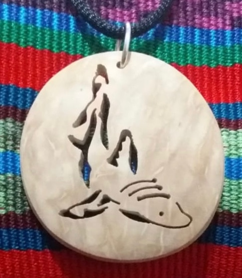 Shark Coco Spirit Hand-Carved Coconut Shell Necklace