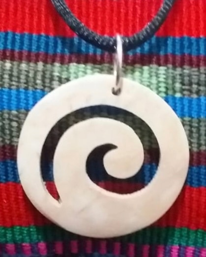 Spiral / Wave Coco Spirit Hand-Carved Coconut Shell Necklace