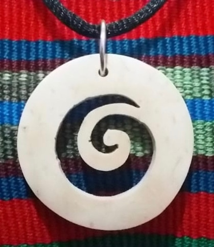 Spiral 3 Coco Spirit Hand-Carved Coconut Shell Necklace