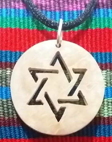 Star of David / Hexagram Coco Spirit Hand-Carved Coconut Shell Necklace