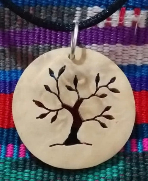 Tree of Life – Summer Coco Spirit Hand-Carved Coconut Shell Necklace