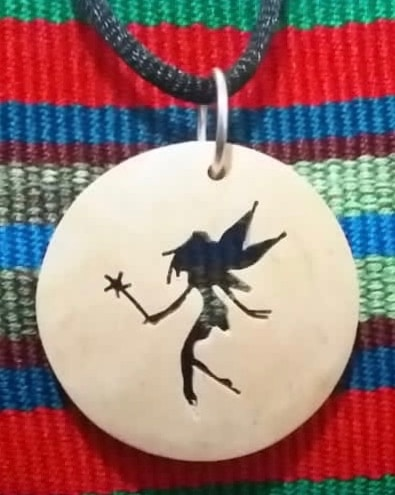 Fairy Coco Spirit Hand-Carved Coconut Shell Necklace