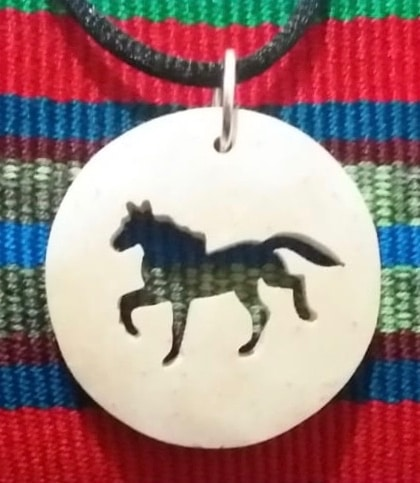 Horse Coco Spirit Hand-Carved Coconut Shell Necklace