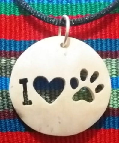 I Love Dogs Coco Spirit Hand-Carved Coconut Shell Necklace