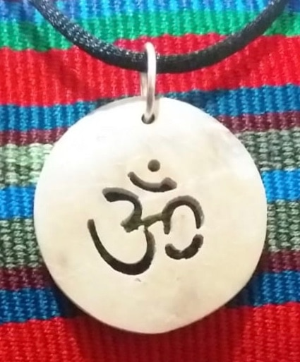 Om Coco Spirit Hand-Carved Coconut Shell Necklace