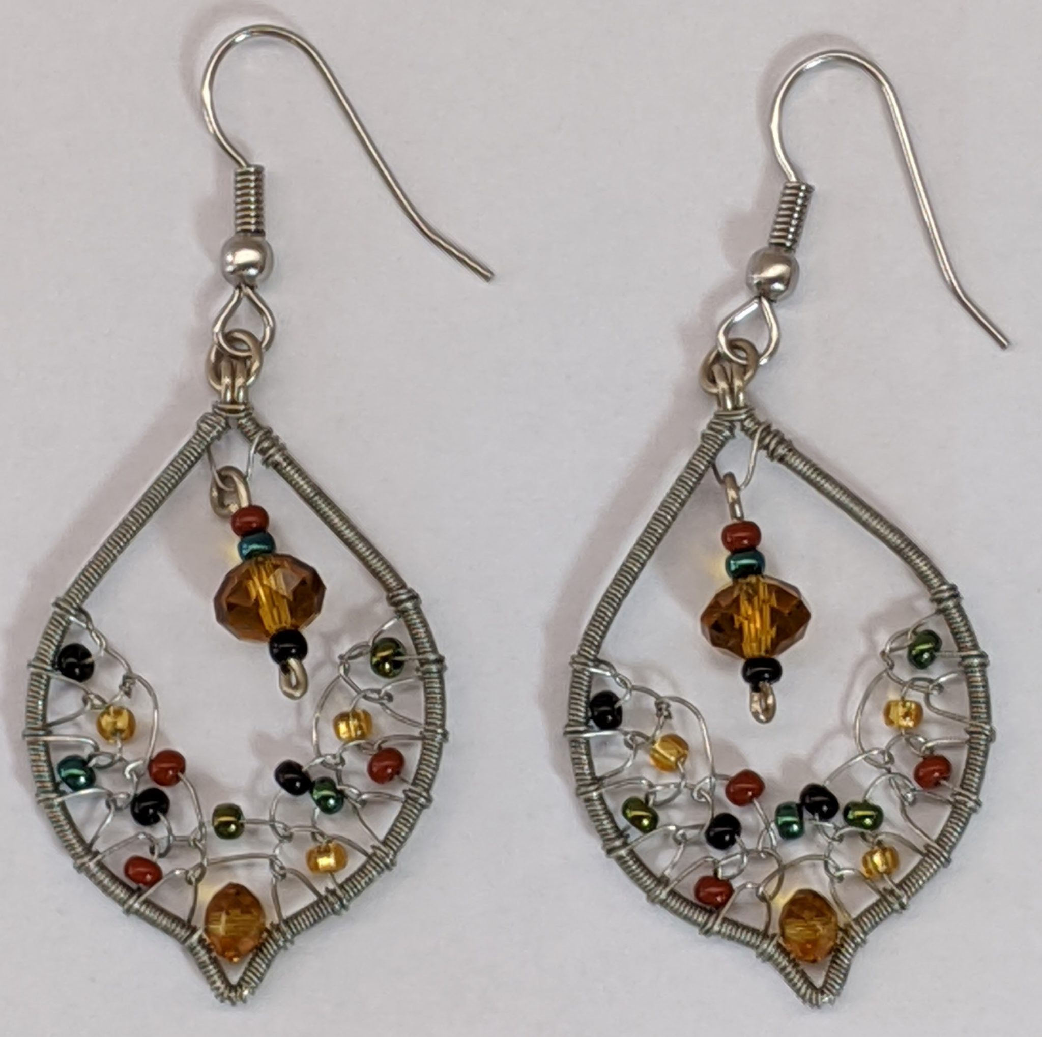 Arabian Nights Earrings - Sophisticated Autumn