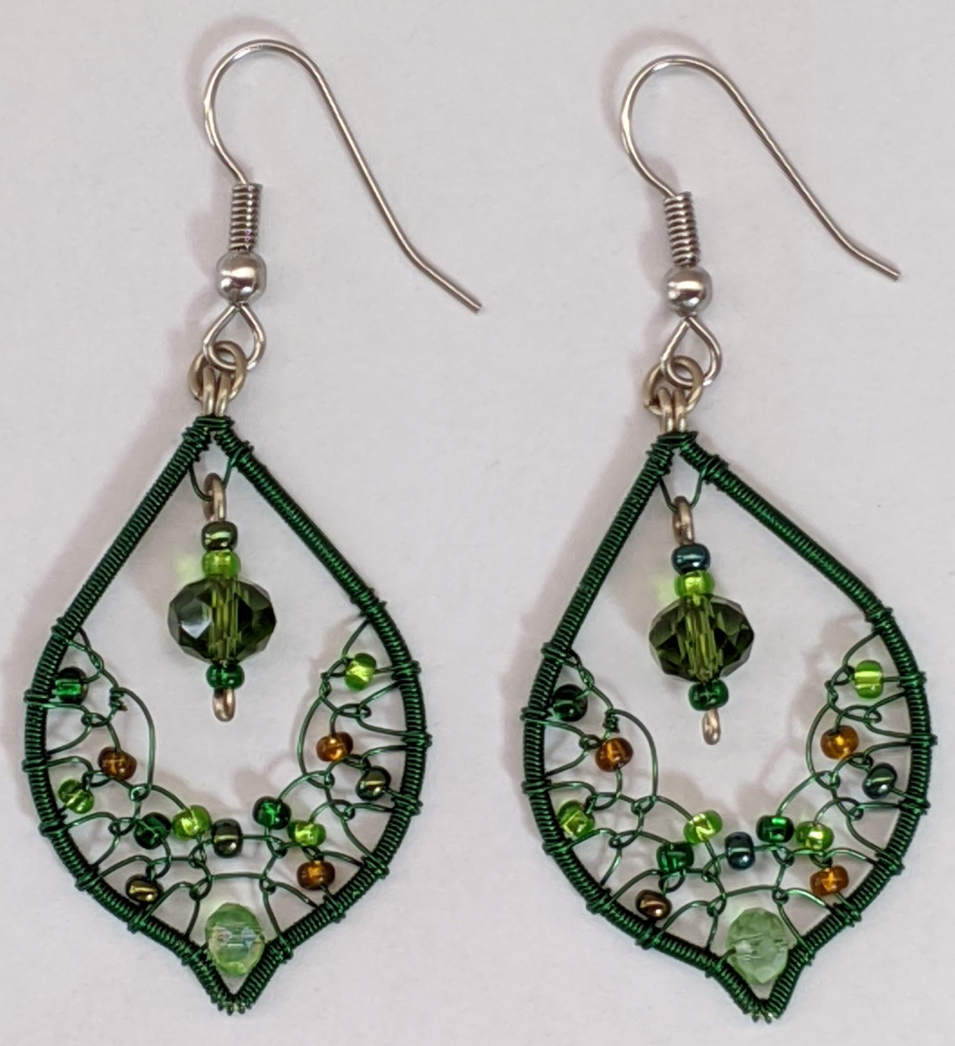 Arabian Nights Earrings - Greens