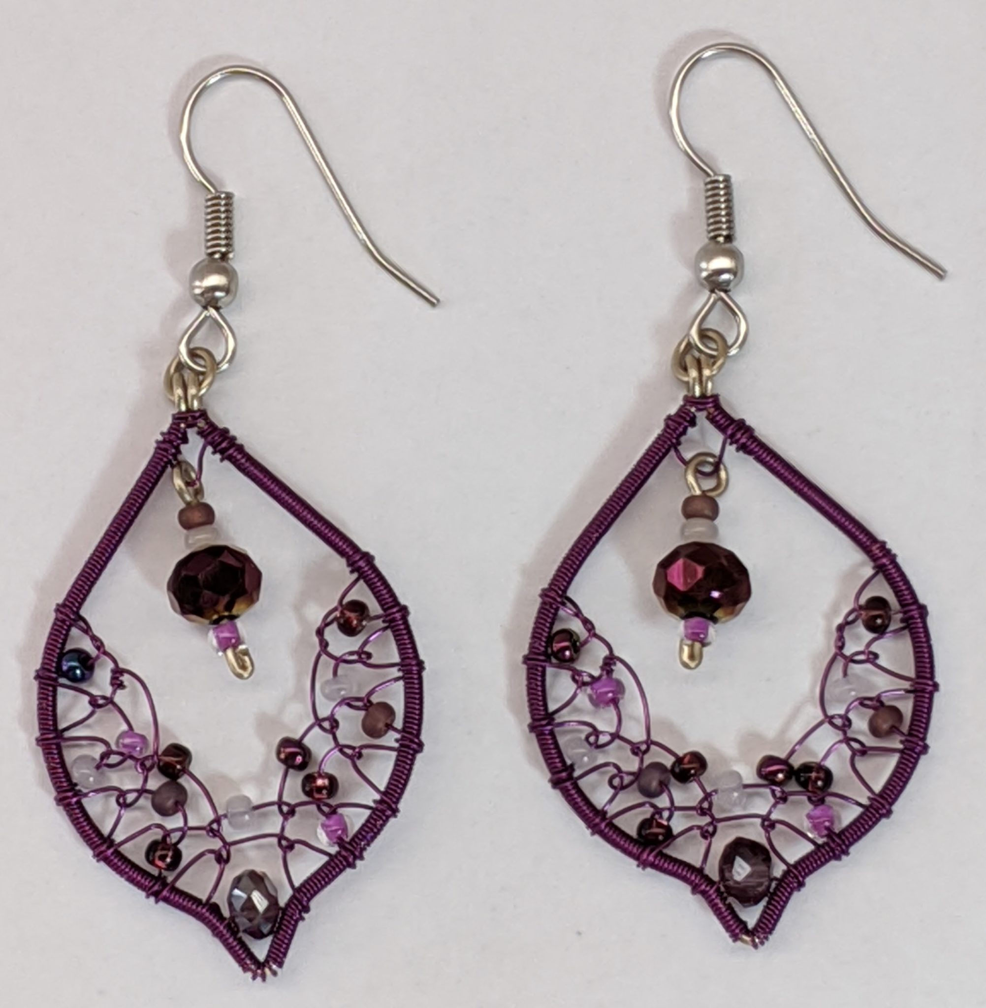 Arabian Nights Earrings - Purples