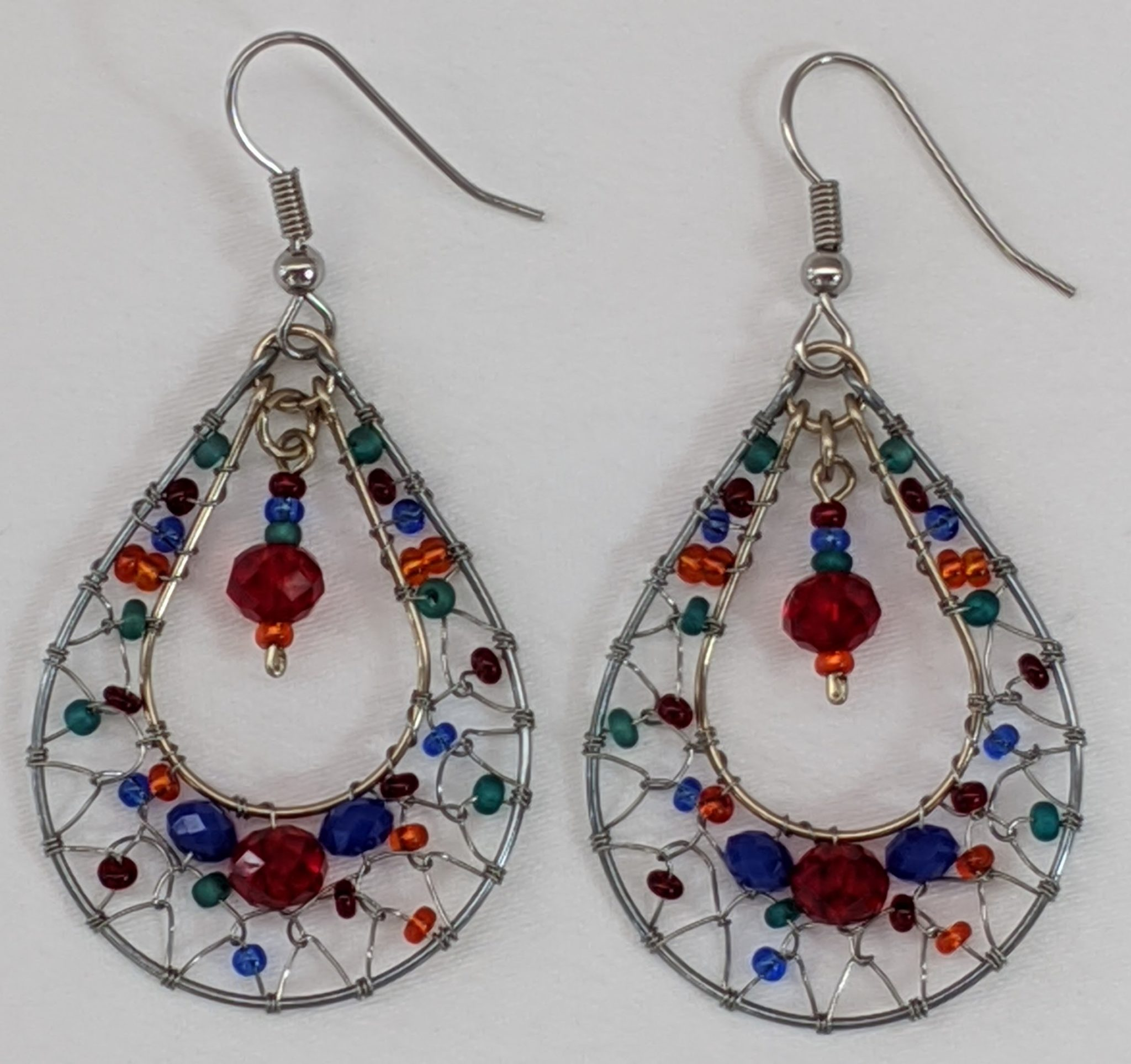 Teardrop Dreamcatcher Earrings  - Fiesta
