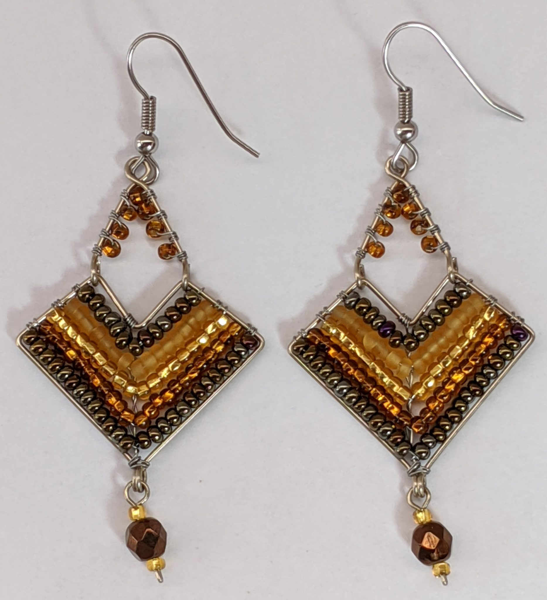 Chevron Earrings - Golds