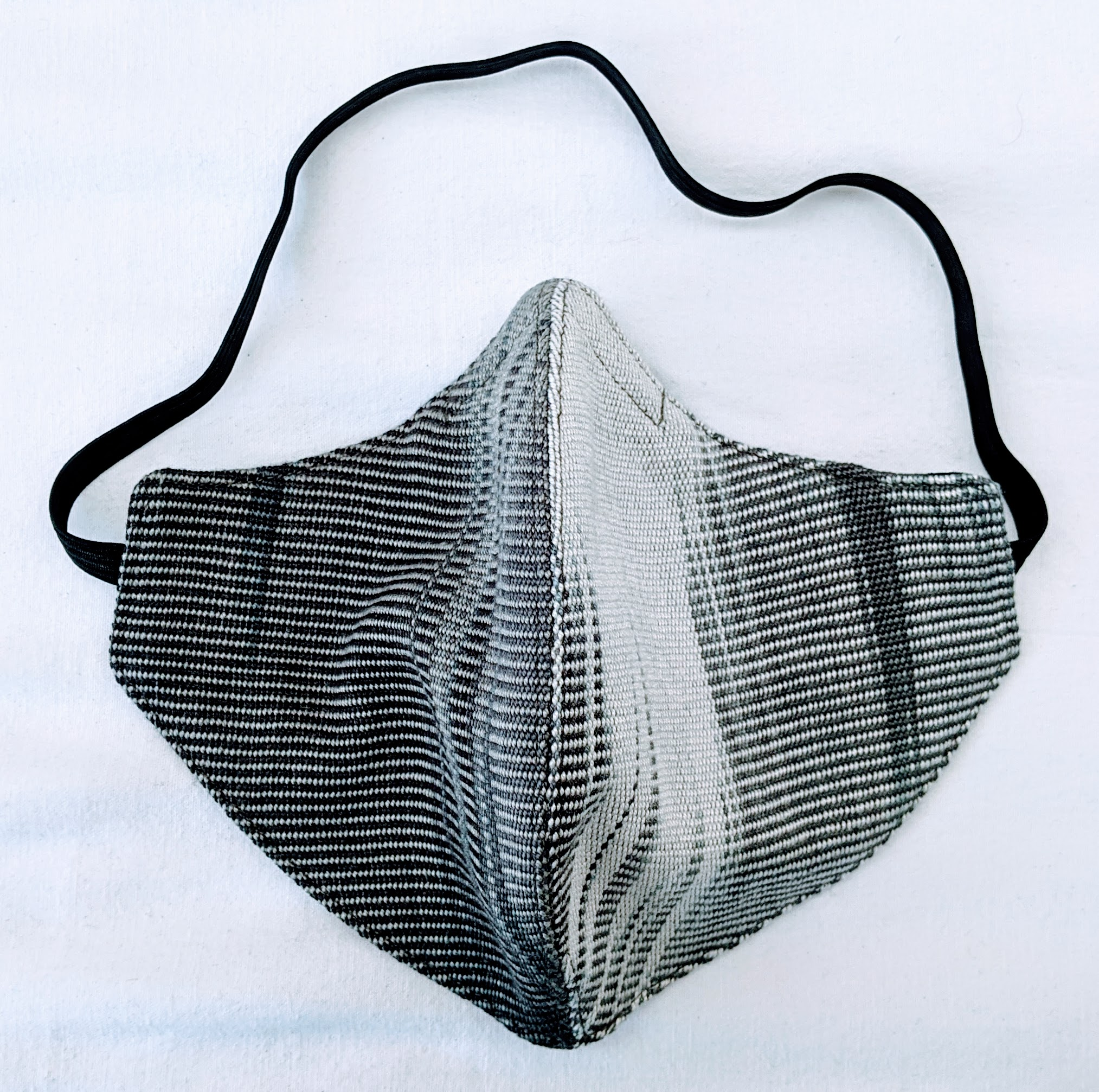 Handwoven Lightweight Bamboo Face Mask with Elastic Behind Head - Black, White, Grays