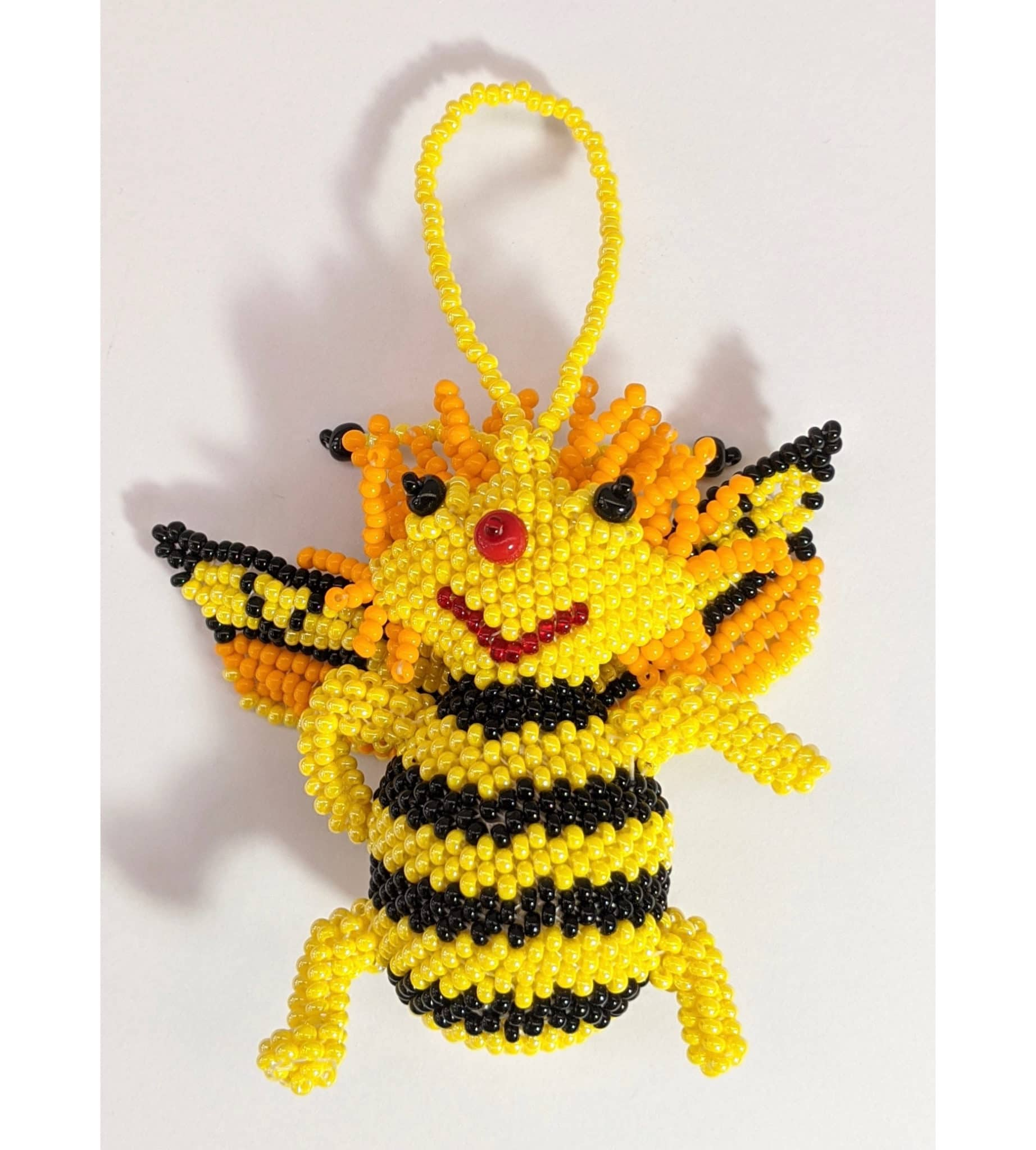 Bee Beaded Ornament #2