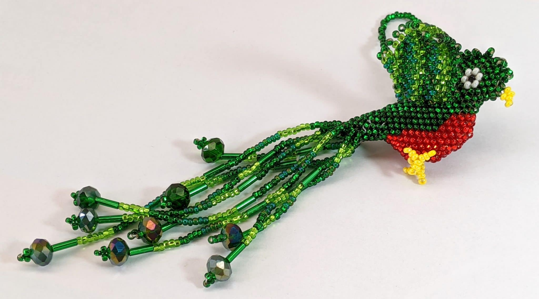 Quetzal Beaded Ornament #4
