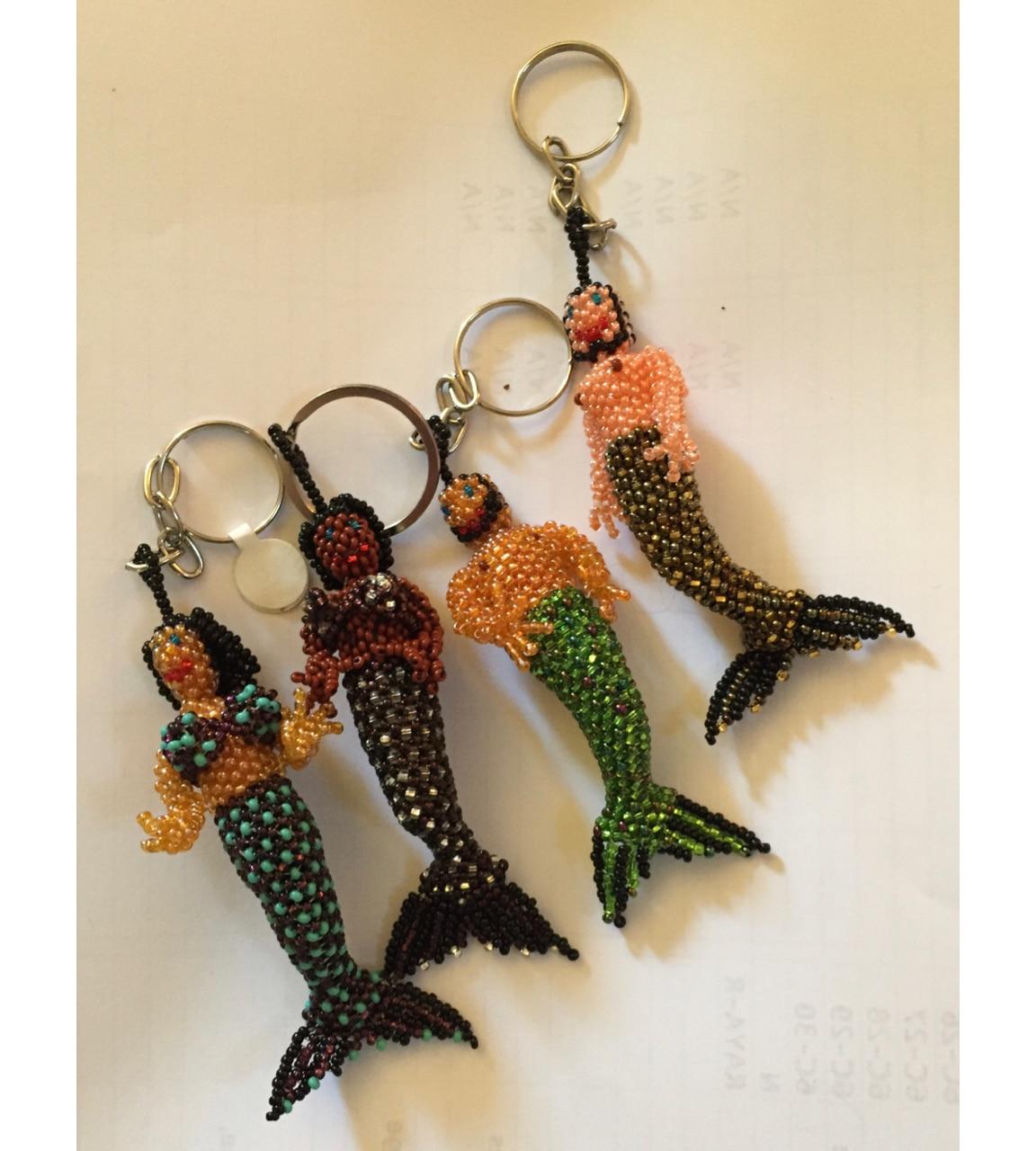 Mermaid and Merman Beaded Ornaments