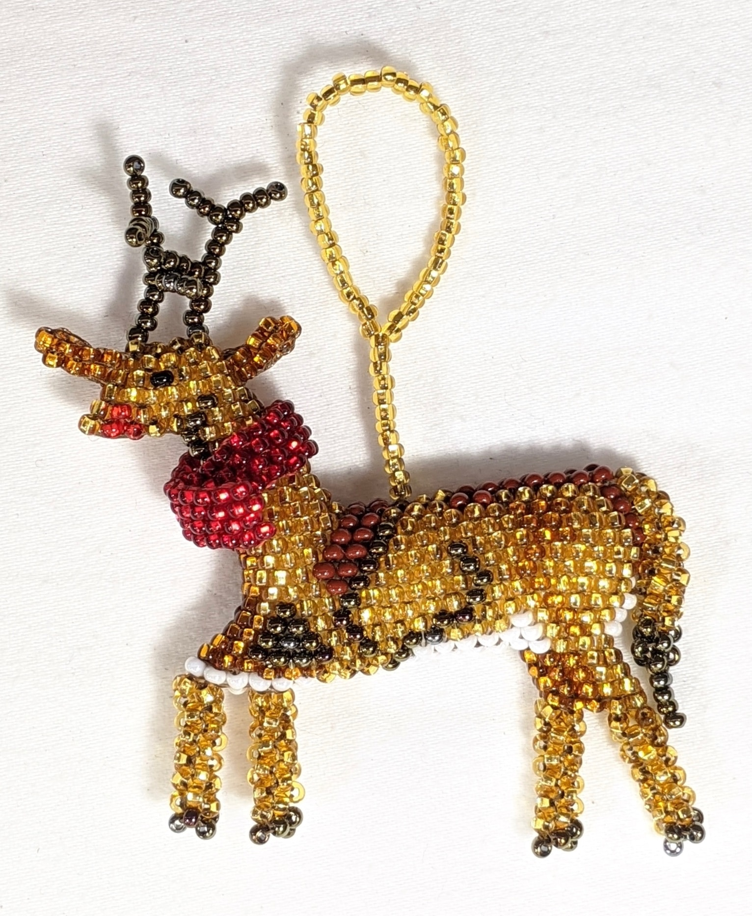 Reindeer Beaded Ornament