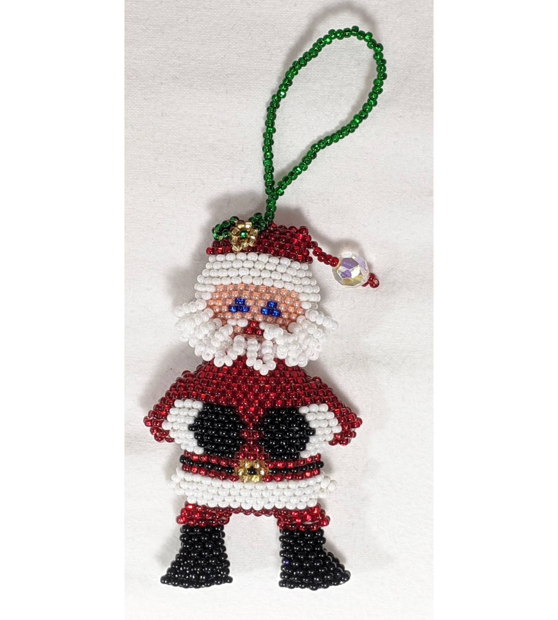 Santa Beaded Ornament