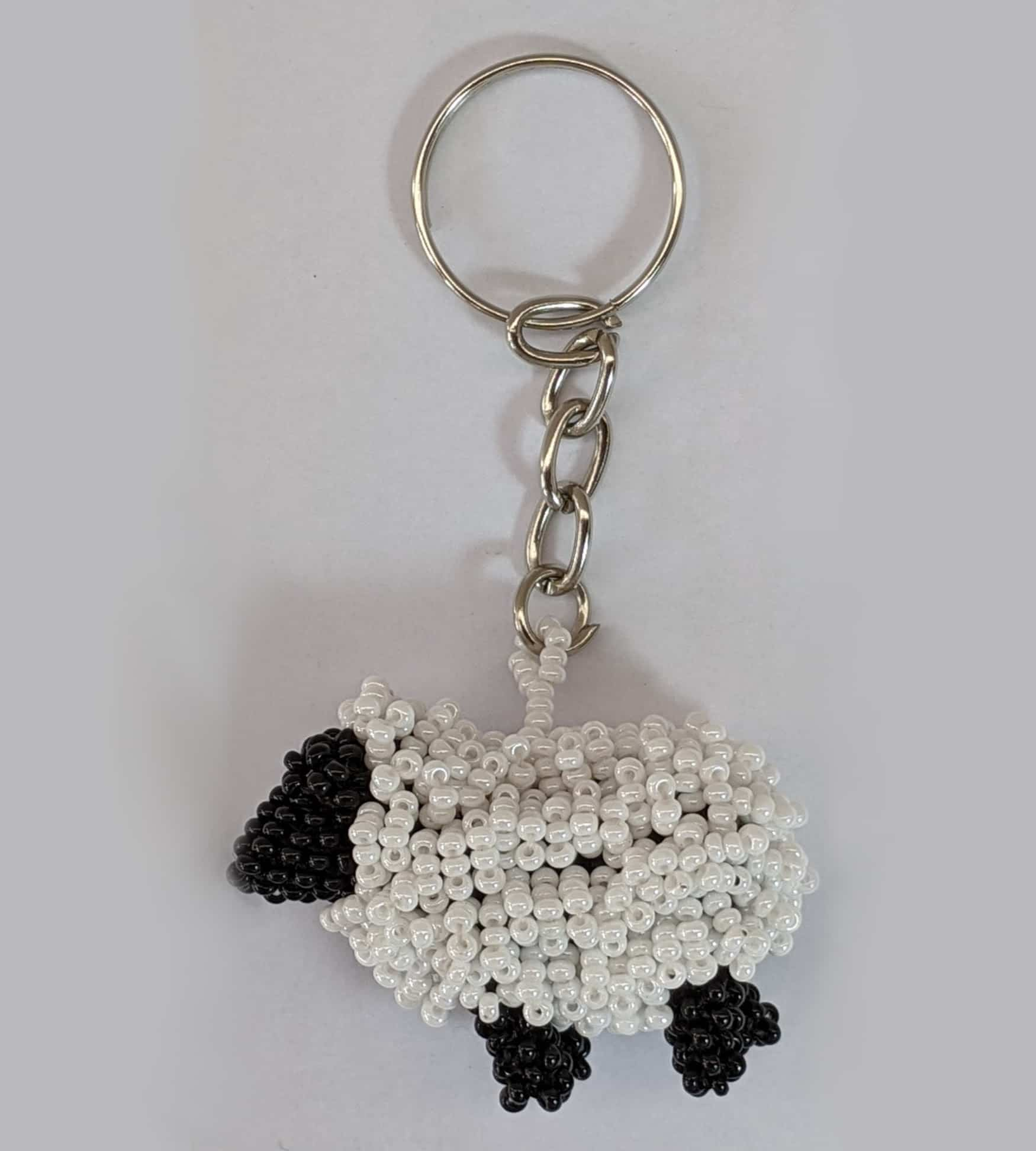 Sheep Beaded Key RIng
