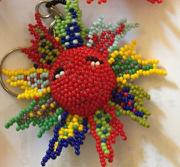Sun Multicolor Beaded Ornament