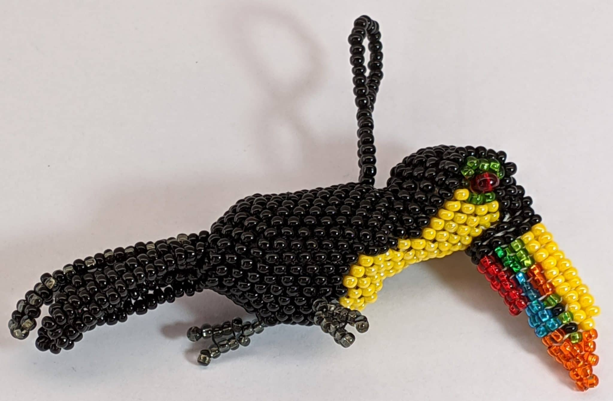 Toucan  Beaded Ornament