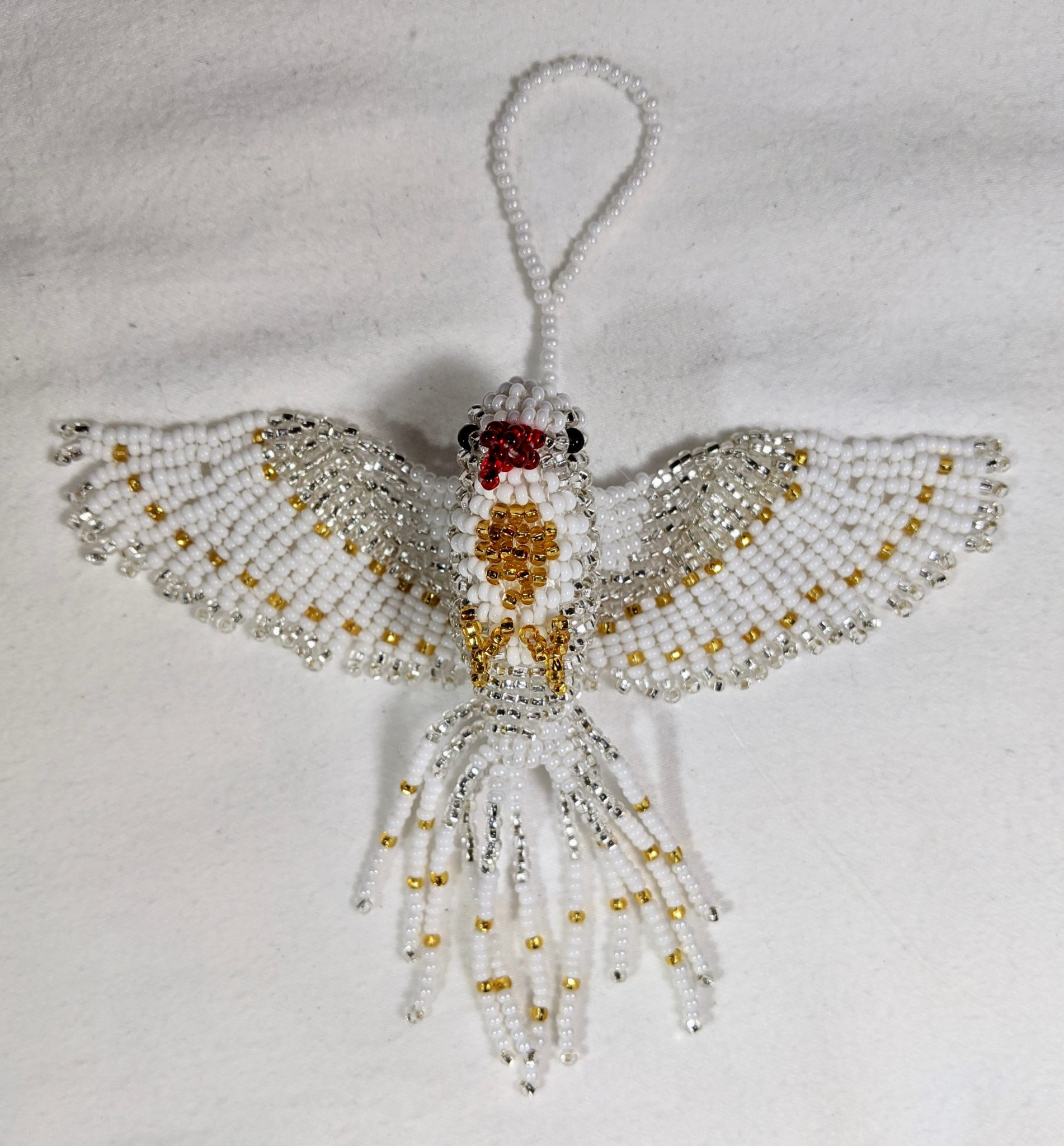 Peace Dove Beaded Ornament