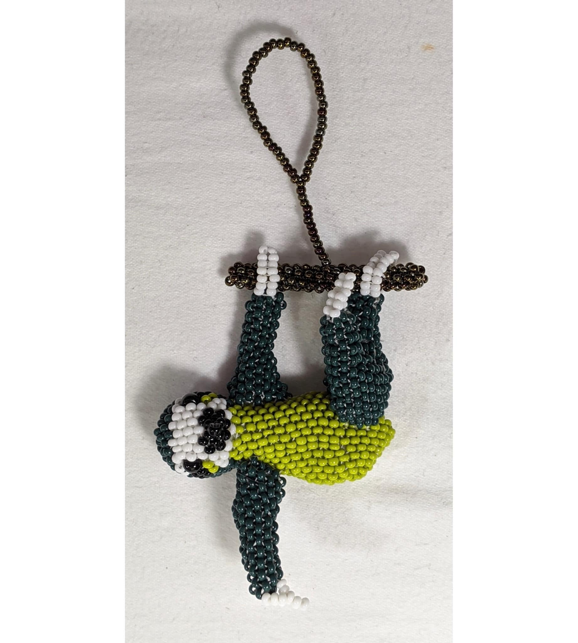 Sloth Beaded Ornament