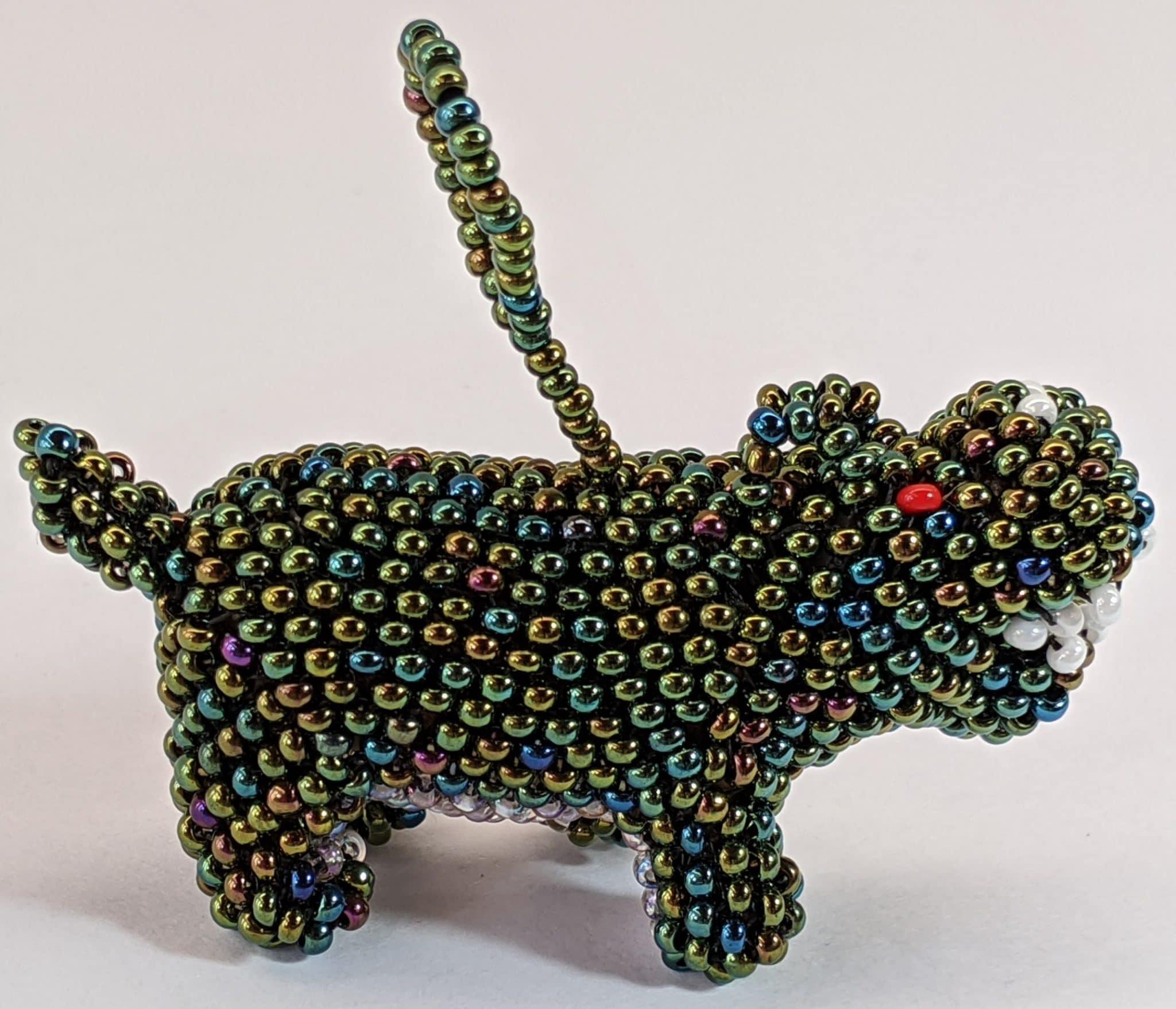 Hippopotamus Beaded Ornament
