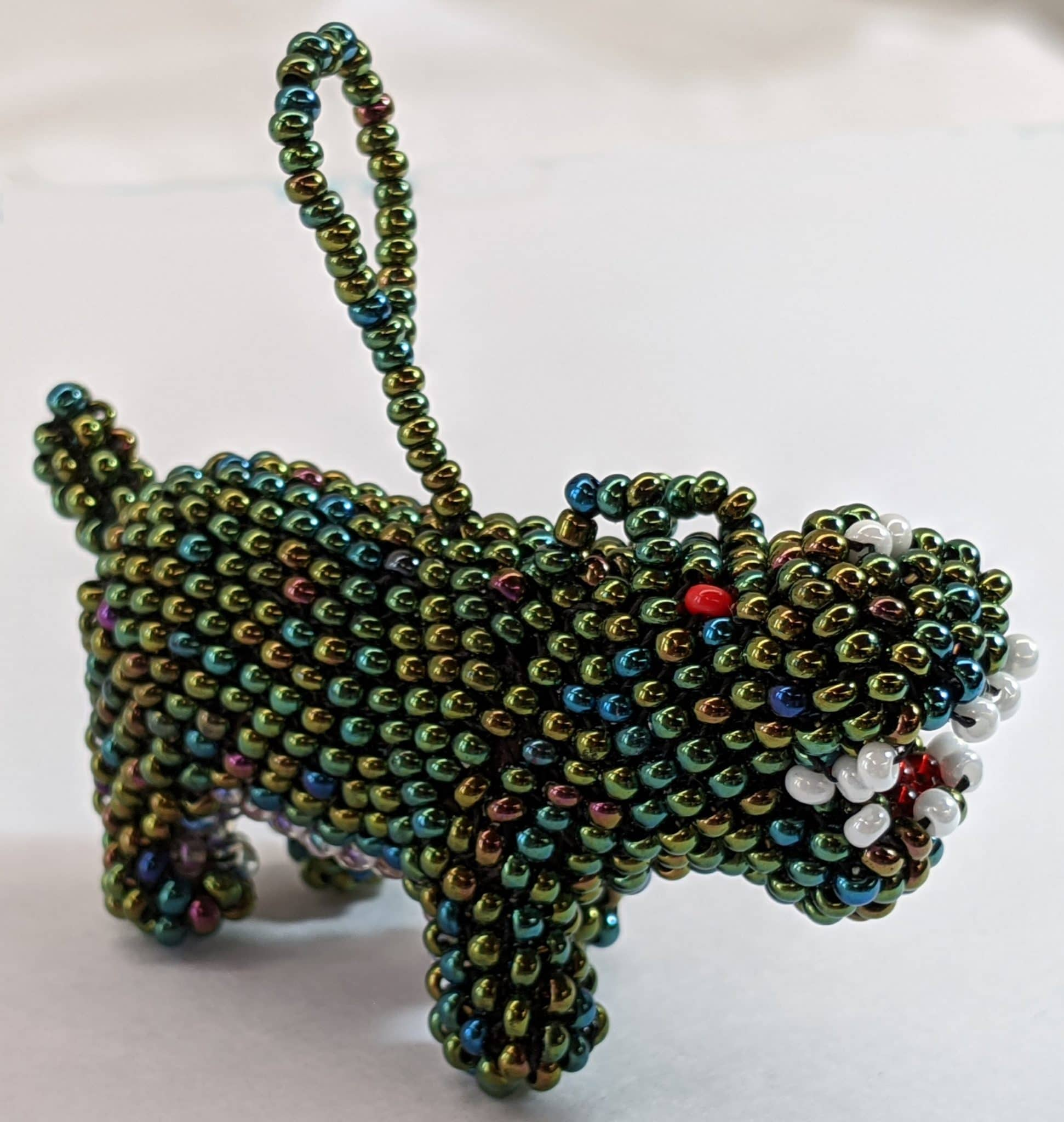 Hippopotamus Beaded Ornament