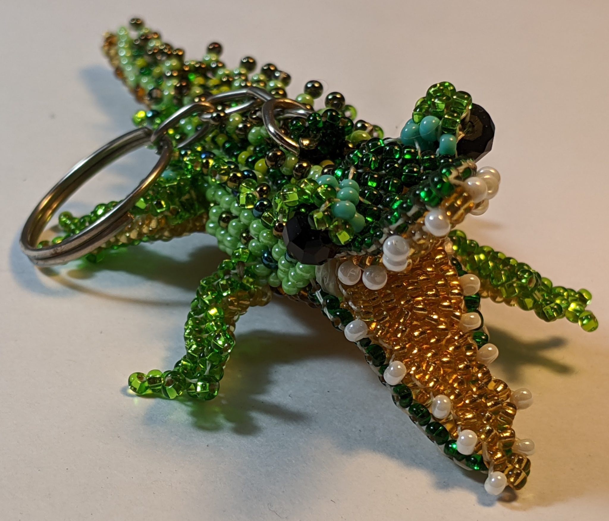 Alligator Beaded Ornament