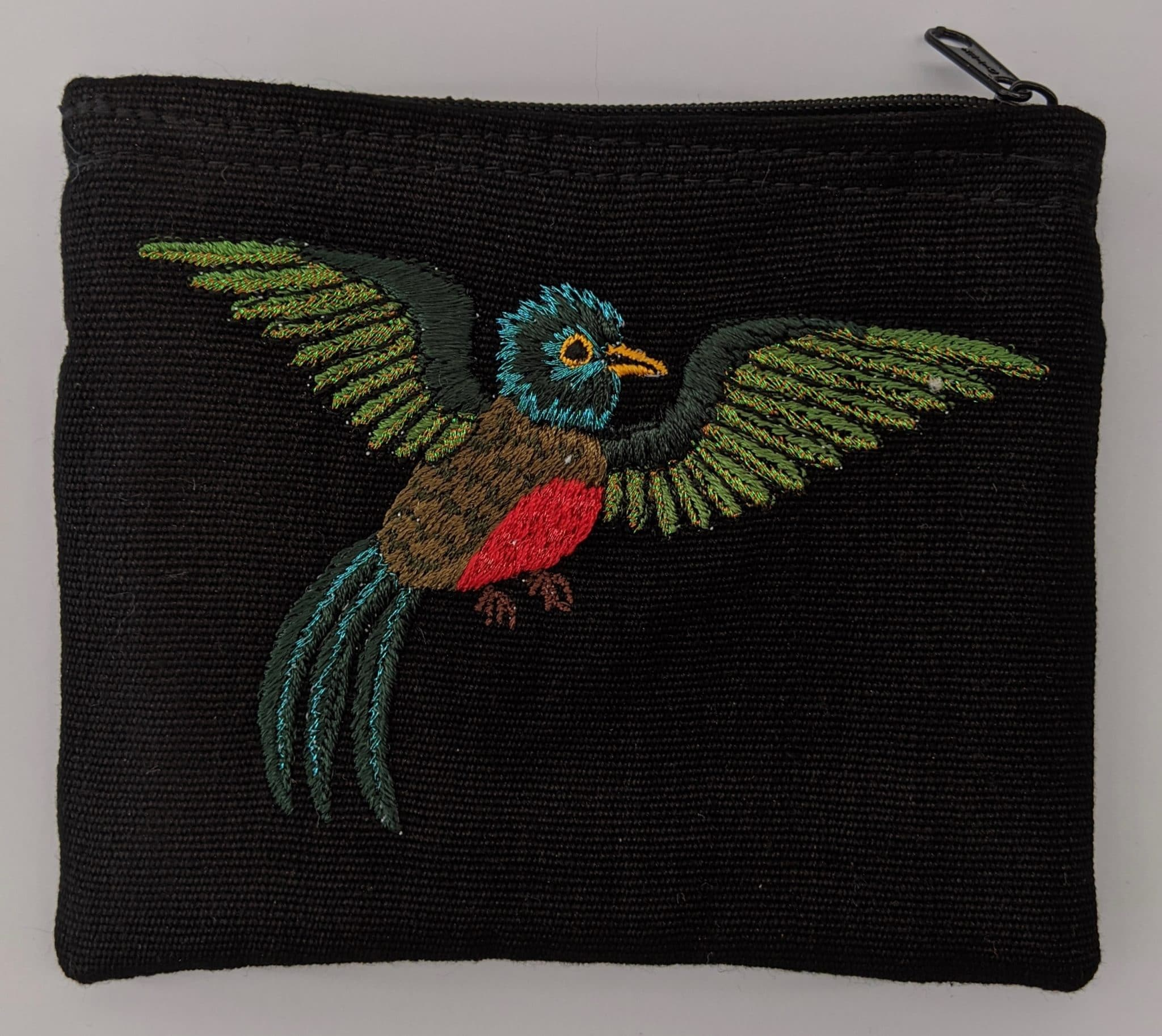 Quetzel Thread Painted Cotton Coin Purse