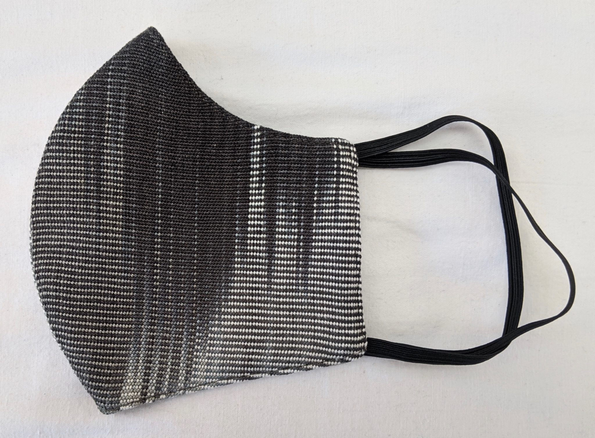 Handwoven Lightweight Bamboo Face Mask with Elastic Behind Ears - Black, White, Grays