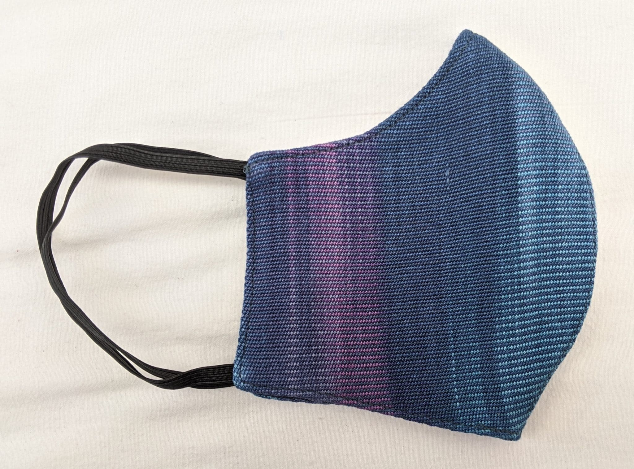 Handwoven Lightweight Bamboo Face Mask with Elastic Behind Ears - Blues, Purples