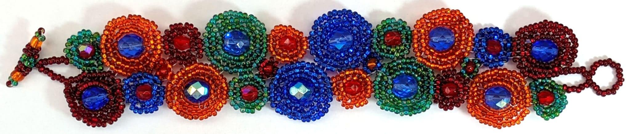 Circles Beaded Bracelet - FIesta